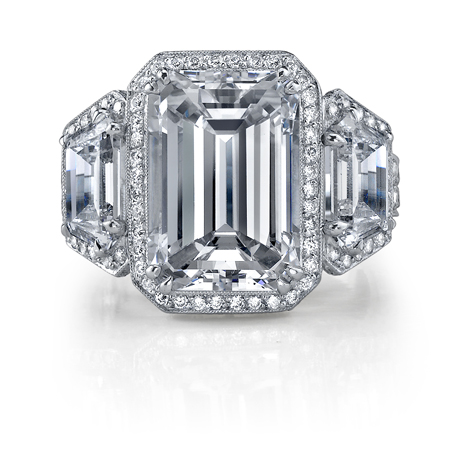 Joshua J  emerald-cut diamond ring