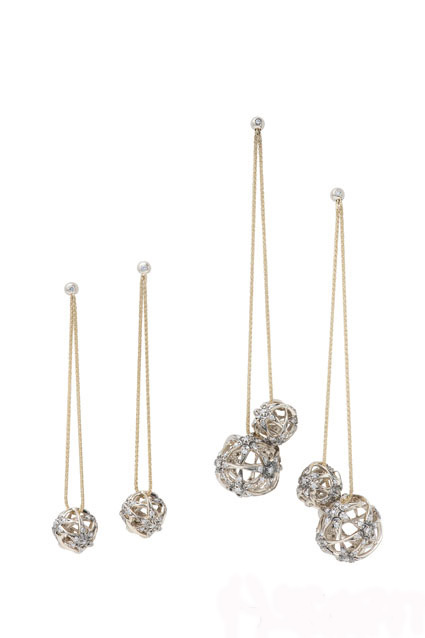 H.Stern 18k Noble gold Copernicus earrings