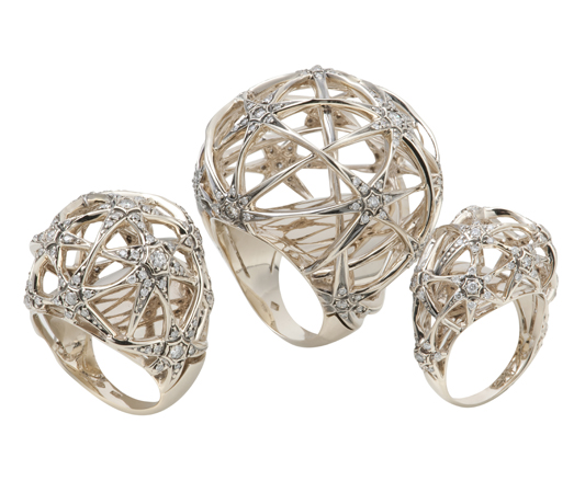 H.Stern 18k Noble gold Copernicus rings