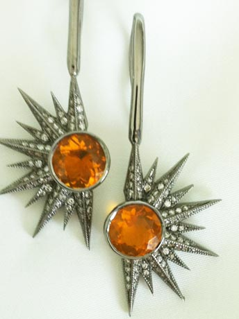 Fire Opal earrings by Colette