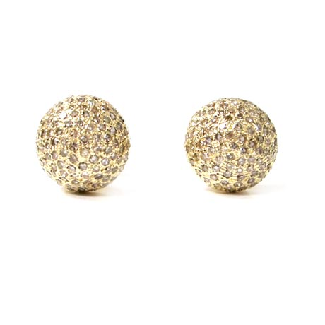 gold and champagne diamond earrings by Kara Ackerman Designs