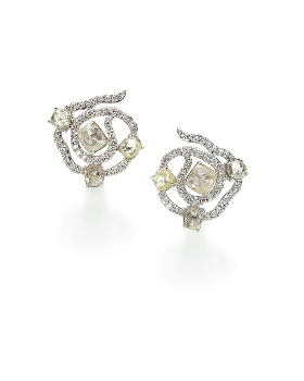 Sodwana diamond earrings by Diamond in the Rough