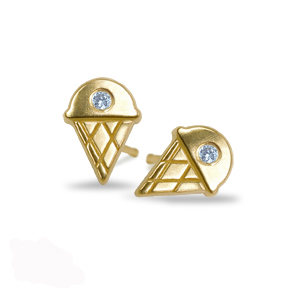 Alex Woo Ice Cream earrings in gold