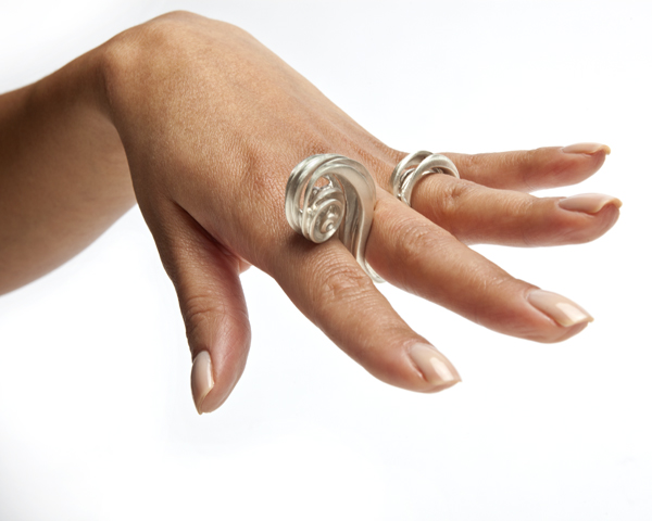 Manya & Roumen Silver Taffy Ring