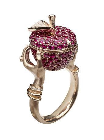 Stephen Webster Large Poison Apple ring from Murder She Wrote collection