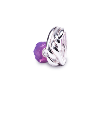 The Pink Prism bead, designed by Lise Aagaard of Trollbeads