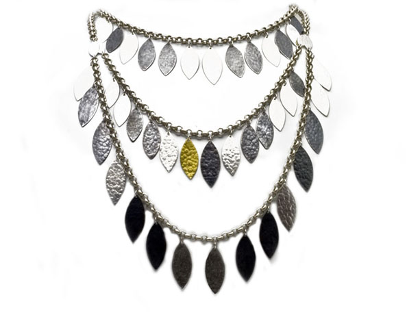 Gurhan bib necklace in silver and 24k gold