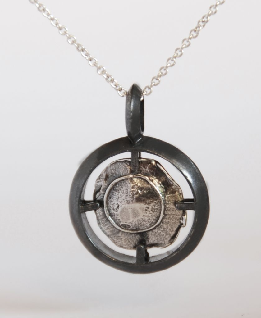 Hot Caliber silver necklace