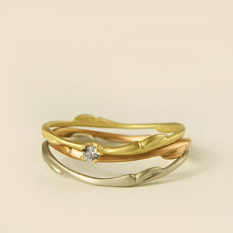 Carla Caruso Willow stacking rings in 14k gold