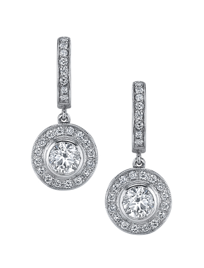 Adeler colorless diamond earrings worn by actress/singer Kristin Chenoweth