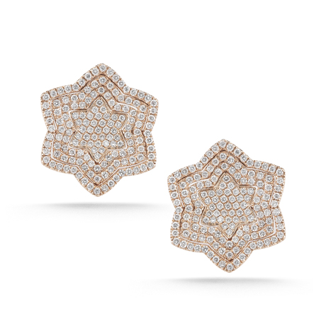 Dana Rebecca diamond and gold earrings