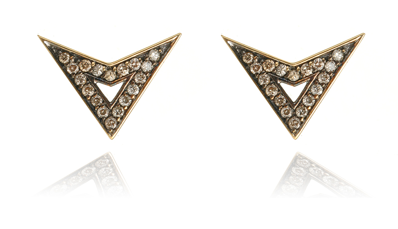 Deborah Pagani diamond and gold earrings