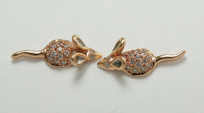 Julez Bryant diamond and gold earrings