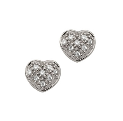 Brian Danielle diamond and silver earrings