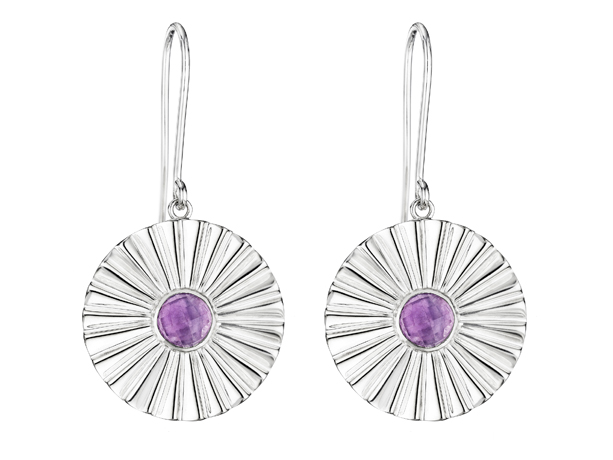 Thistle & Bee silver drop earrings
