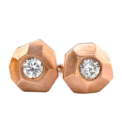 Ron Hami gold diamond earrings