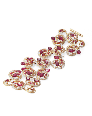 Goldesign rubellite bracelet