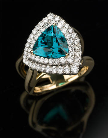 Indicolite tourmaline from Richard Krementz Gemstones