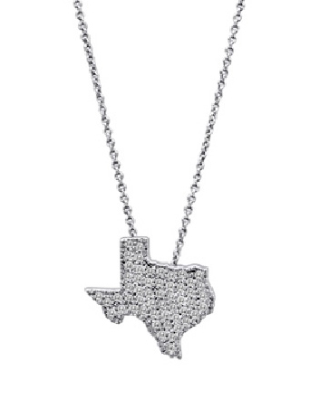 Lisa Nik's Diamond-Studded Texas Pendant Necklace