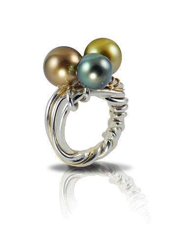 Tahitian pearl ring by Joel Green