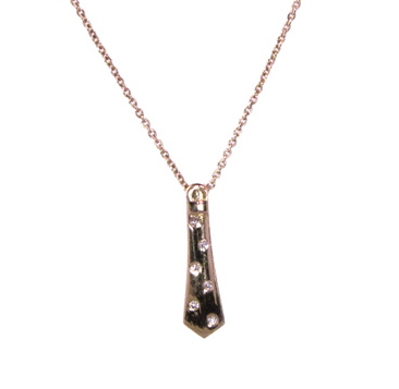 Lisa Nik Diamond-Accented Tie Necklace in 18k gold