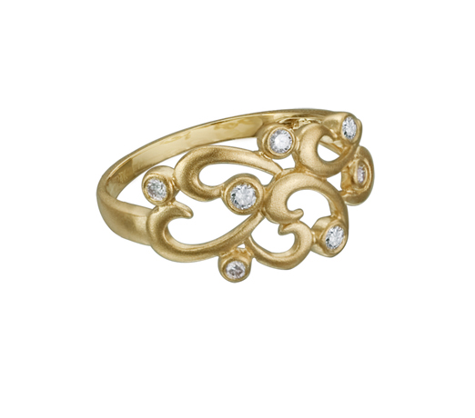 Artistry gold and diamond rings