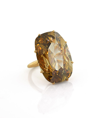 Siegelson 35 ct. Brown Golcanda Diamond