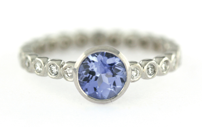 Jessica Fields sapphire and diamond ring