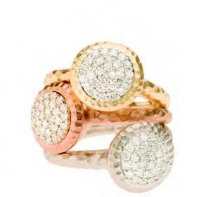 Phillips Frankel gold and diamond rings