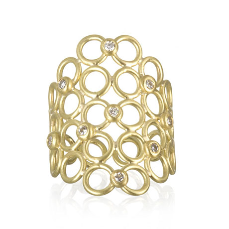 Faye Kim gold and diamond ring