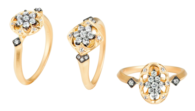 Parade Design gold diamond rings