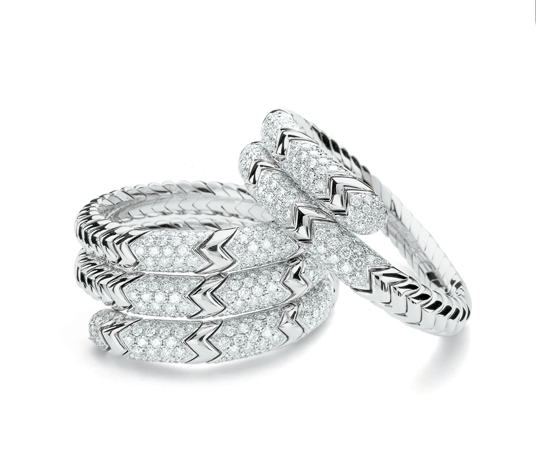 Bulgari diamond Snake bangles worn by Claire Danes at 2012 Golden  Globes