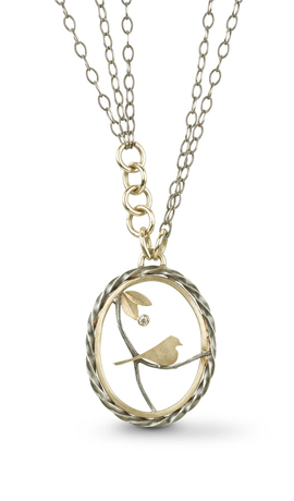 Jamie Cassavoy sterling and gold necklace