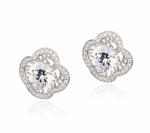 Simon G. diamond and palladium earrings worn by Guiliana Rancic at  2012 Golden Globes