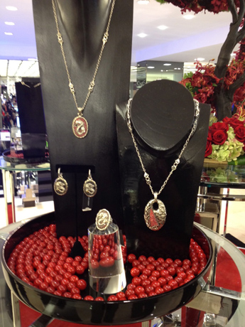 John Hardy jewelry display in a Manhattan Bloomingdales