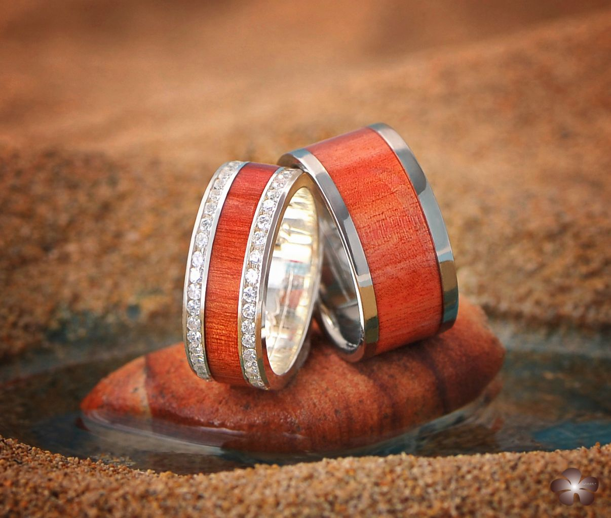 Alamea Hawaii koa wood rings