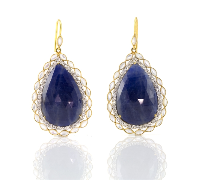 Lauren Harper's Sapphire Princess Earrings