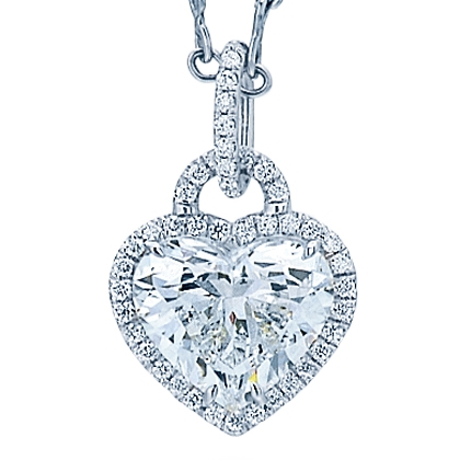 Norman Silverman's Diamond Heart Necklace