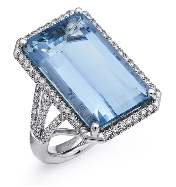 Coast Diamond Aquamarine Cocktail Ring