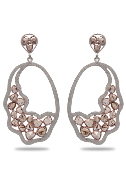 Khuboo diamond slice earrings