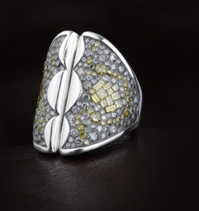 Plive Collection of diamond jewelry by Ron Rizzo for Pluczenik