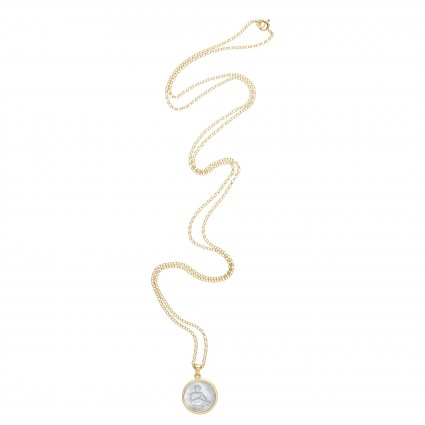 Zodiac necklace in 14k gold vermeil by Asha by ADM