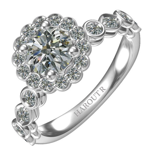 Harout R engagement ring
