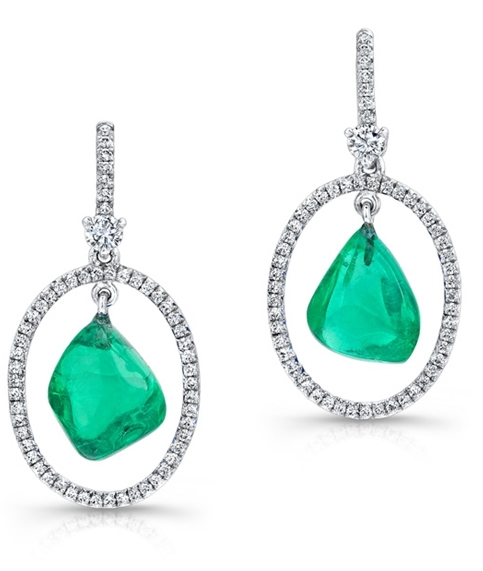 ABC Gems emerald earrings