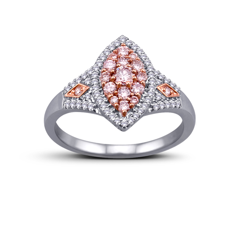 Bombay Jewellery Manufacturers pink diamond ring