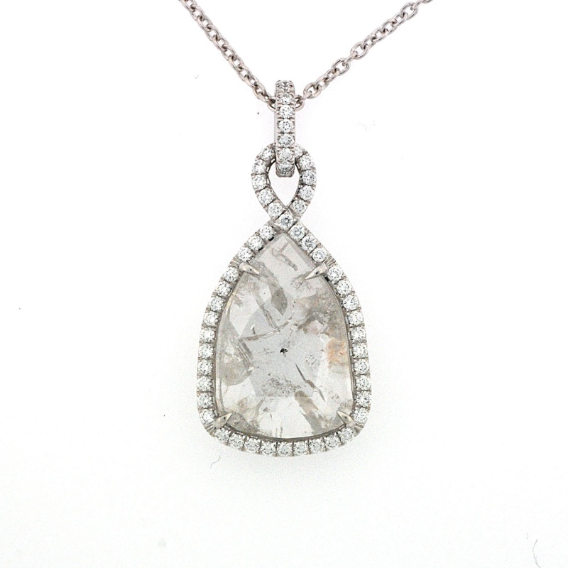 Rahaminov rough diamond slice pendant