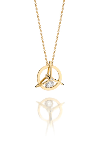 Yael Sonia Spinning Ring pendant necklace in 18k gold