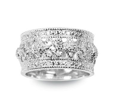 Sterling Reputation diamond and silver band