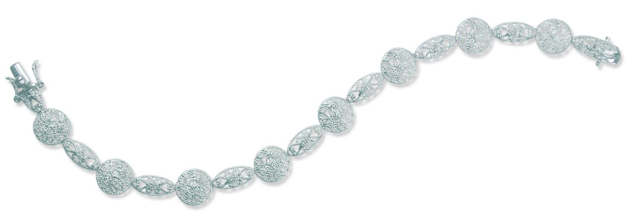 Sterling Reputation diamond and silver bracelet