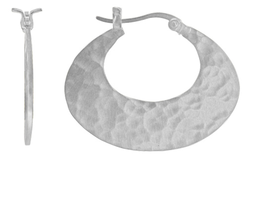 Boma silver hoop earrings